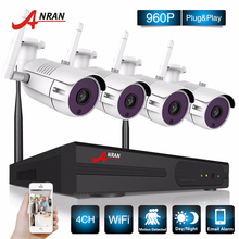 ANRAN P2P 4CH Wireless NVR 36 IR Outdoor Video 960P WIFI IP Camera CCTV Security System Hard Disk Optional(China)