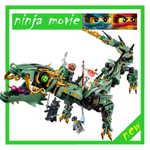lepin 06051 ninjagoes 592pcs Movie Series Flying mecha dragon Building Blocks Bricks baby Toys children gift Model Gifts 70612(China)
