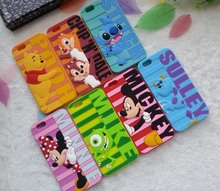 "3D Cartoon Mickey Minnie Mouse Monsters Sully Stitch Bear Case Cover For iPhone 6 4.7""/6 plus 5.5""/5/5S Soft Silicon Phone Cases"