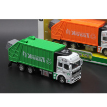 High Simulation Brand New Educational Car Model Alloy Garbage Tank Truck toy Cleaning Vehicle Engineering Toys For Collection(China)