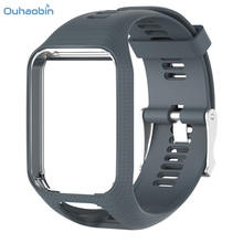 Ouhaobin Durable Replacement Silicone Strap Band For TomTom Spark / 3 Sport GPS Watch Wrist Strap Multicolor Silicagel Sep7(China)