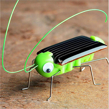 Solar Power Robot Insect Bug Locust Grasshopper Kids Solar Toys Energy Crazy Grasshopper Cricket Kit Toy Yellow and Green