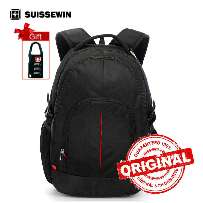 Swiss Backpack Men Waterproof Business Travel Backpack Cool Student Backpack mochilas masculina Black Back Pack sn8044<br>