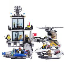 Legoelieds Compatible Building Blocks City Coastal Police Guard Ship SWAT Truck Motorcycle / Learning Education toys(China)