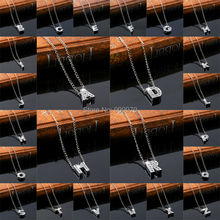 Crystal Letters combinations Necklace Lady Or Men Party Gift A B C D E F New Style Pendant Antique Clear Rhinestone