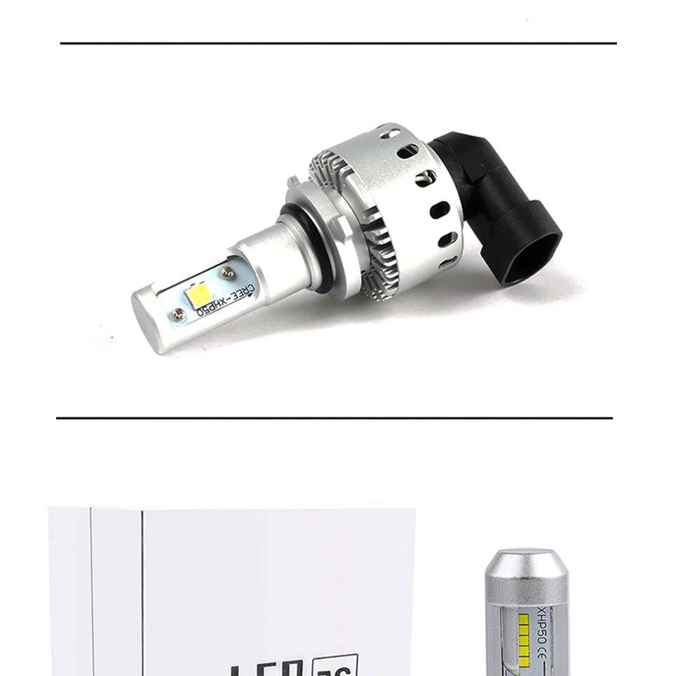 COOLEEON LED Car Lights H1 H4 H7 H11 9005 9006 Auto Headlamp Bulbs 12V 24V Cars Headlights 80W CREE LED Chips 6000K White Lamp (20)