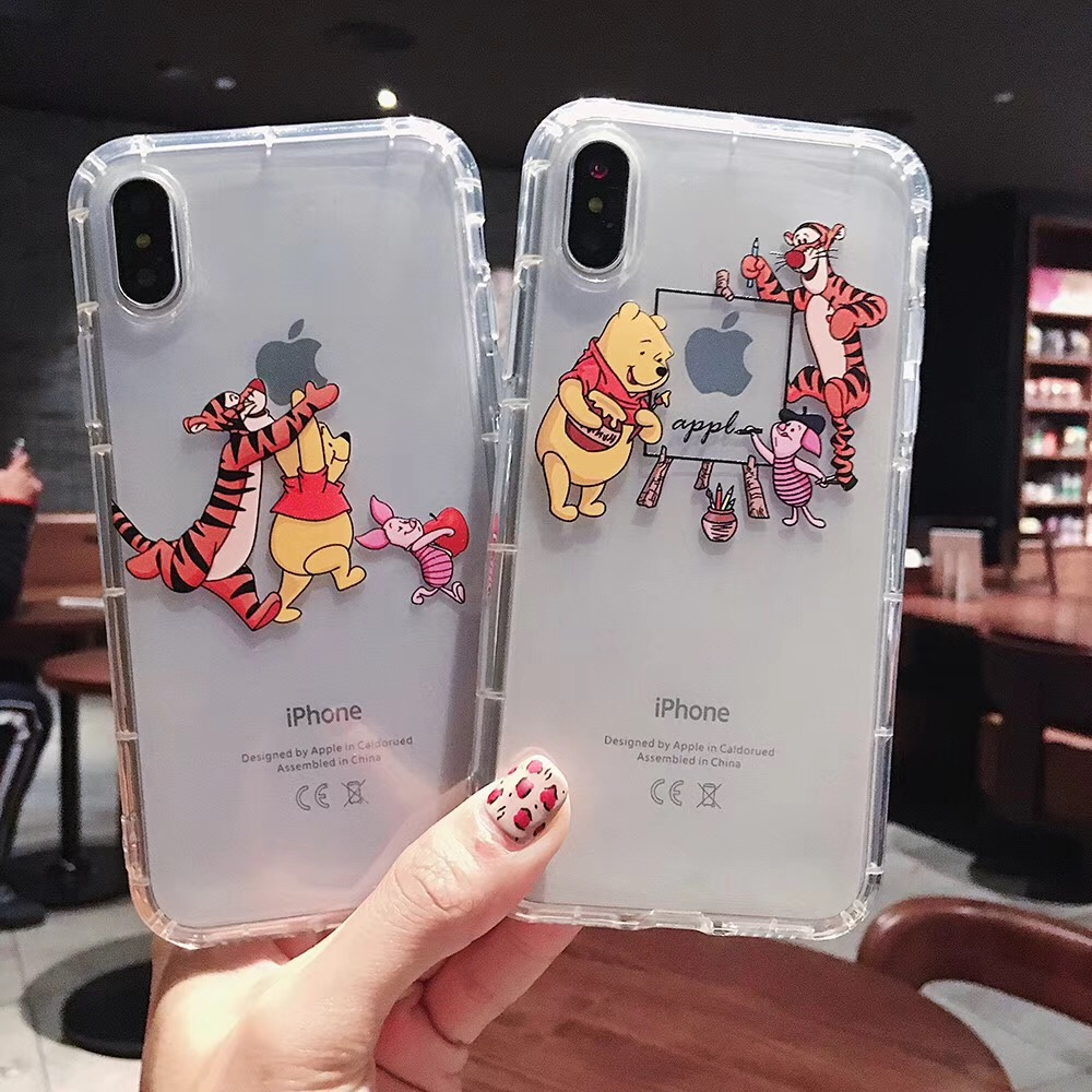 Cartoon classic anime disneys phone case For iPhone Xs Max Xr X 8 7 6 6s Plus Coque Winnie Pooh Tigger Soft clear TPU back cover(China)