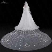 LZP032 Veil One Layer Wedding Veil Flowers Veil 5 Meters