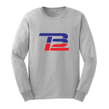 Loo Show Mens Tom Brady TB 12 Logo Cotton Long Sleeve T-Shirts Casual Men Tee(China)