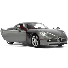 CAIPO 1:32 FOR Alfa Romeo 8C sports car model sound and light alloy pull back toy car bulk 89316
