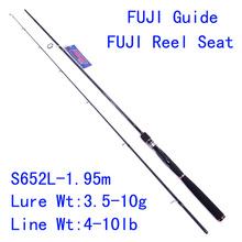 Tsurinoya PRO FLEX S652L-1.95m Lure Fishing Rod L Action FUJI Guide Reel Seat Carbon Spinning Bait Rod  EVA Hanle Pesca Tackle
