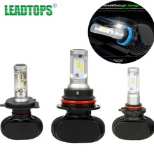 LEADTOPS CSP Chips H4 LED H7 H11 9005 9006 LED Car Headlight Bulb 50W FogKits Automobile White Light 6500K CJ