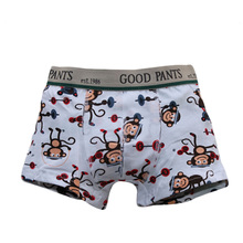 Autumn Children's Shorts For Boys Cotton Briefs For  Boy Boxers Calzoncillos Ninos Print Funny Animal Pattern Kids Underwear