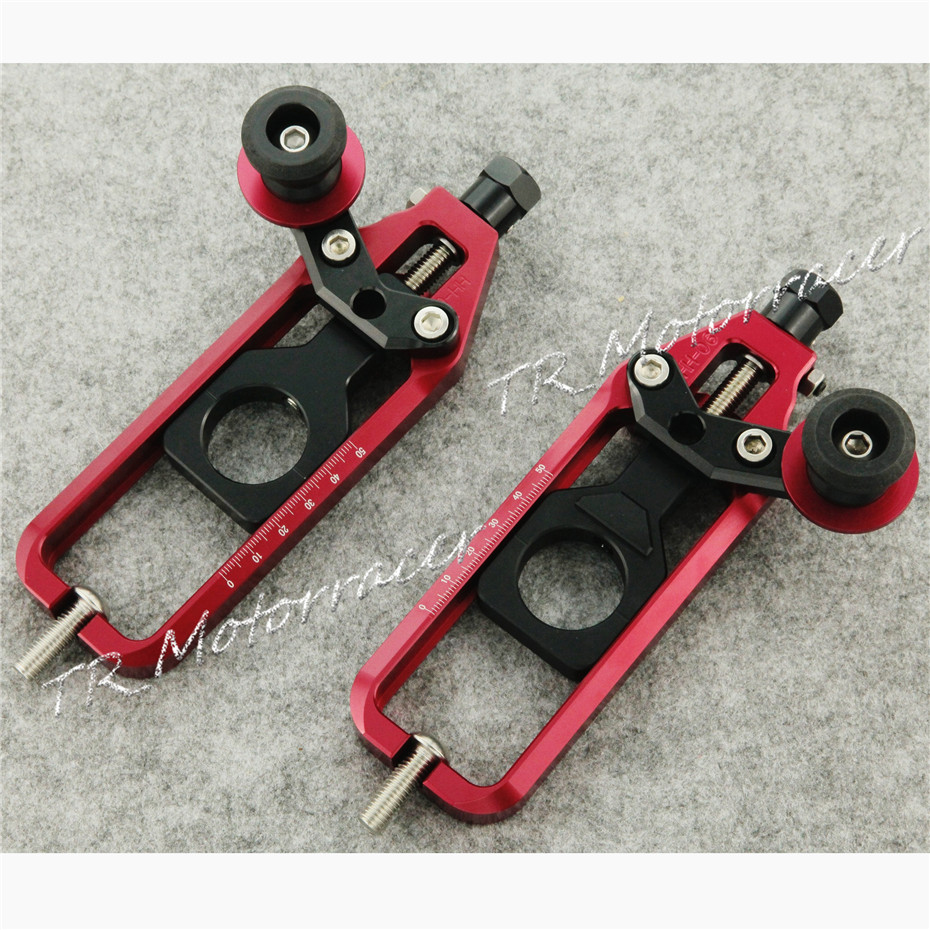 Aluminum Chain Adjuster For Yamaha YZF R1 2004 - 2008 High Quality Motorcycle 05 06 07 08 Red <br><br>Aliexpress