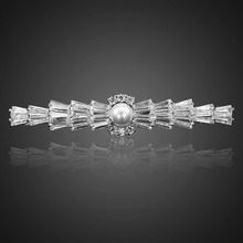 Very Nice Cut Sparking Cubic Zirconia Hair Clips for Women Exquisite Bride Wedding Accessories Joyeria F00027