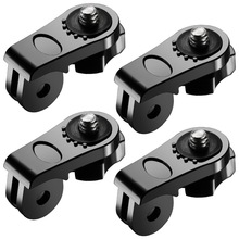 "4X Universal Conversion Adapter 1/4"" Inch Mini Tripod Screw Mount for GoPro Accessories to Sony Olympus and Other Action Cameras"