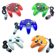 New Color Long Handle Wired Game Controller for N64 Gamepad Joystick for Nintendo for 64(China)