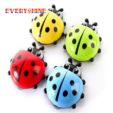 Toothbrush Toothpaste Shelves Lovely Creative Lady Beetle Modelling Wall-Mounted Storage Box Strong Chuck To Receive JJ239(China)