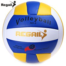 Regail Official Size 5 Weight Volleyball Durable PU Leather Beach Volleyball Outdoor Indoor Training Competition Handball(China)