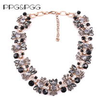 PPG&PGG New Hot Black Collar Statement Pendants Collier Choker Big Vintage Maxi Chunky Necklace Jewelry(China)