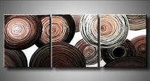 Abstract Circle Round Geometric Oil Painting on Canvas Modern Home Decor Wall Art Graffiti Acrylic Paintings 3 Panel Pictures