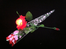 Valentine Gift  Rose single branch LED decorative flower Light  LED Rose Flower Light a Sweet Gift to your lovely girlfriend