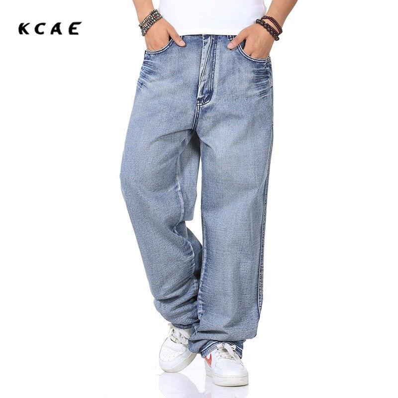 2017 New Men Jeans Men Baggy Jeans Denim Hip Hop Pants Casual Loose Jeans Trousers Big Size Light Blue 30-46Îäåæäà è àêñåññóàðû<br><br>
