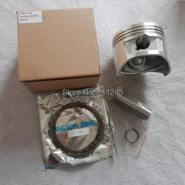 82MM PISTON KIT FITS HONDA GX340 337CC 11HP 4 CYCLE MOTOR CYLINDER 4KW EC5000 GENERATOR ZYLINDER W/ RING WRIST PIN CLIP ASSEMBLY<br>