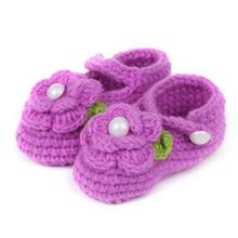 2017 brand Children Baby shoes slippers Crib Crochet Casual Handmade Knit Sock Infant Rose tmall Kids First Walkers For Girl Boy(China)