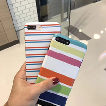 Cross Stripe Horizontal Stripes Phone Case For iPhone 7 7plus 6s 6 6Plus Back Cover Soft TPU Silicon Funda Cases