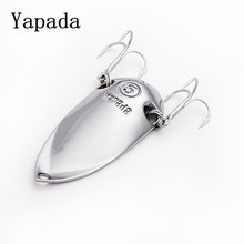 YAPADA lures spoon bait fishing 10g 15g 20g 25g with hamecon triple treble hooks metal jig angeln fishing tackles free shipping(China)