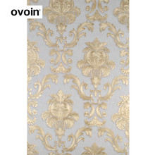 Modern Luxury Glitter Gold Damask Vinyl Wallpaper Roll Bedroom Living Room Wall Paper PVC Vinyl Wall Cover Interior Home Decor(China)