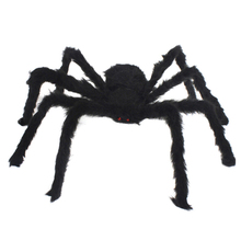 New Decor 30cm Black Plush Spider Toys for Practical Jokes Gags Toy Halloween Decoration Spiders Novelty Gifts Party Decorations