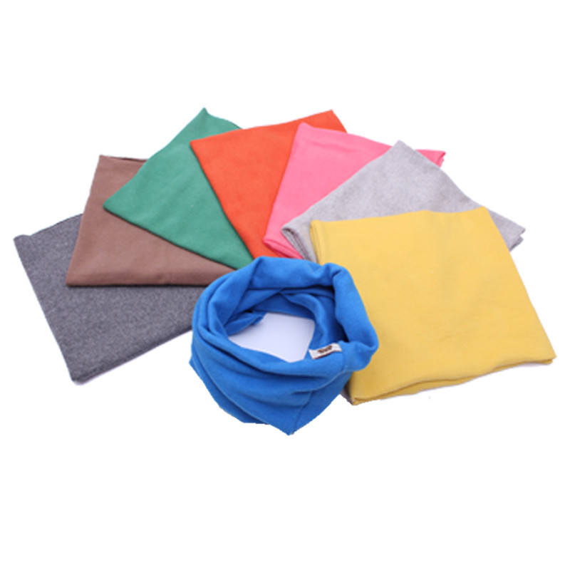 New wool cotton middle thick solid color baby scarf  winter warm kids O ring collars star anchor children scarves neckwear
