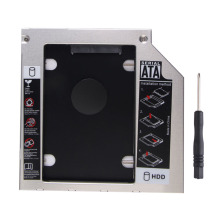Aluminum 2.5 inch SATA to SATA 2nd HDD Caddy for 9.5mm Universal CD/DVD-ROM/ for 9.5mm Laptop optical drive