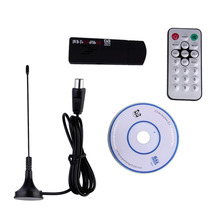 E4000 USB DVB-T + RTL-SDR Realtek RTL2832U + R820T DVB-T Tuner Receiver Wholesale Drop Shipping(China)