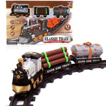 1 Set Classic Rail Train Toys Electric Rail Train Models Mini Electric Train Set Track Toy for Kids with Retail Box(China)