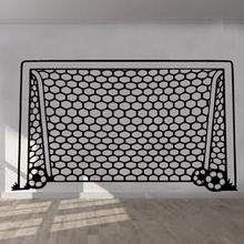 Football Goal Net Wall Sticker Art Kids Room Boys Girls Decor free shipping