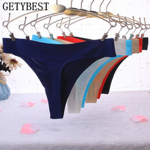 Buy Hot New Women Sexy Seamless Underwear Women's T Panties G String Women's Briefs Calcinha Lingerie Tanga Thong Women