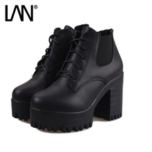 2017 New Winter Spring Women Ankle Boots Suede Women Casual Shoes Breathable Height Platform Shoes