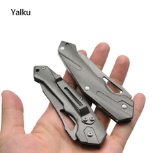Yalku Survival Knife Multi Purpose Tactical Knife Stainless Steel Folding Pocket Knife Outdoor Camping Tool Folding Blade(China)