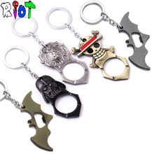 Buy Game One piece Batman Star Wars bottle opener keychain alloy pendant charms key chains keyring key buckle jewelry gift funs for $2.04 in AliExpress store