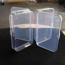 E74  2Pcs Clear Plastic Transparent With Lid Storage Box Collection Container Case