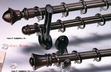2015 Luxury 28mm diameter curtain poles fuyuan aluminum alloy four colors 100cm length double curtain rod sets(China)