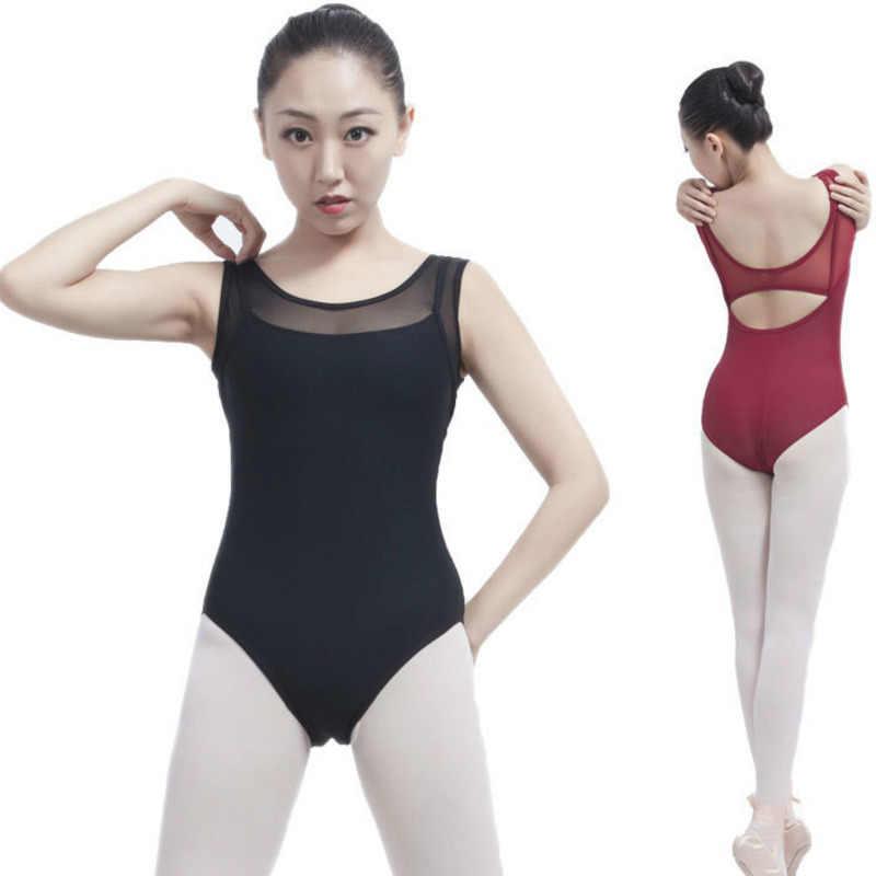 6a2a309c7 sexy black leotard for dance wear adult ballet leotards for women  gymnastics dancewear Mesh Costume Bodysuit