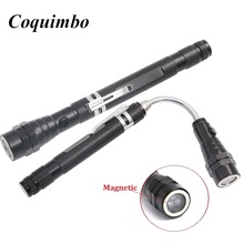 Coquimbo Flexible Magnetic Head Telescopic Flexible 3 LED Torch Flashlight Magnetic Pick Up Tool Lamp Light Drop Shipping