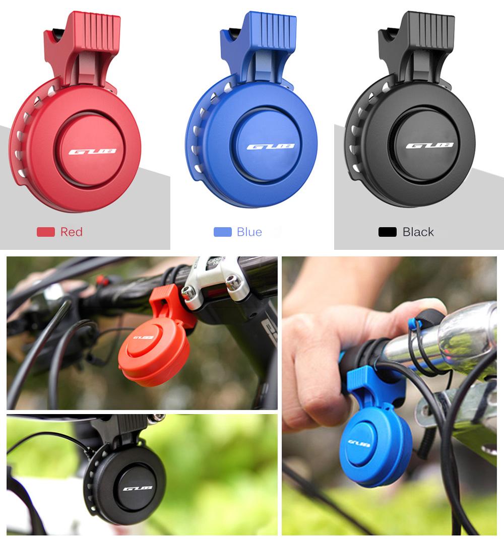 GUB Q - 210 Rechargeable Waterproof Loud Volume Cycling Handlebar Electric Bike Ring Mini Alarm Bell Electronic Bicycle Horn