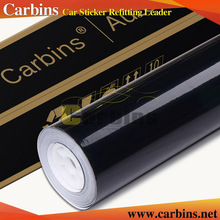 High glossy black car vinyl wrap sticker, air bubble free quality 3 layers with protection film 1.52*30m size