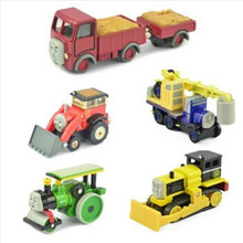 6pcs/lot Thomas and Friends AollyTRAIN&CAR,Thomas train Metal toys Thomas Tank Engine toys for children-George,Lorry,Jack,Byron