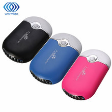USB Mini Air Conditioner Refrigeration Cooling Fan Three Colors Portable Handheld Bladeless Cooling Fan(China)